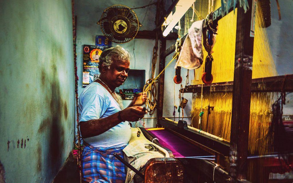 Kanchipuram silk weaving