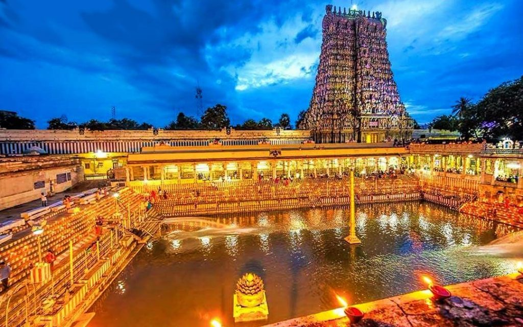 Madurai Meenakshi Amman Temple during Karthigai Deepam