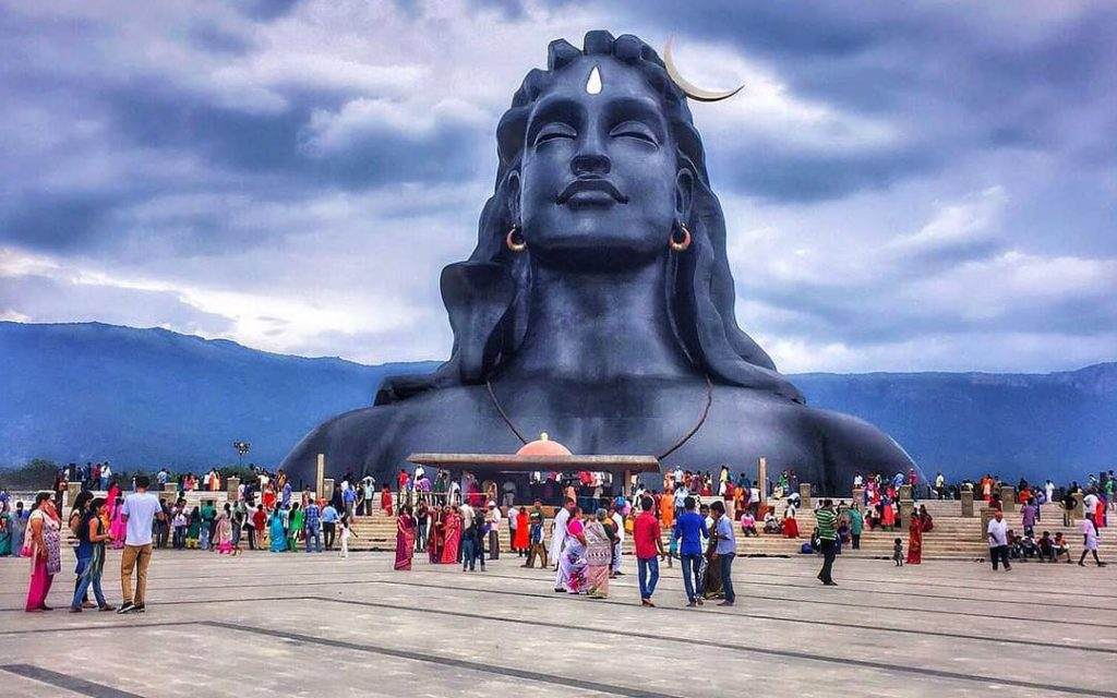 Adiyogi Siva statue at Isha Yoga Centre in Coimbatore