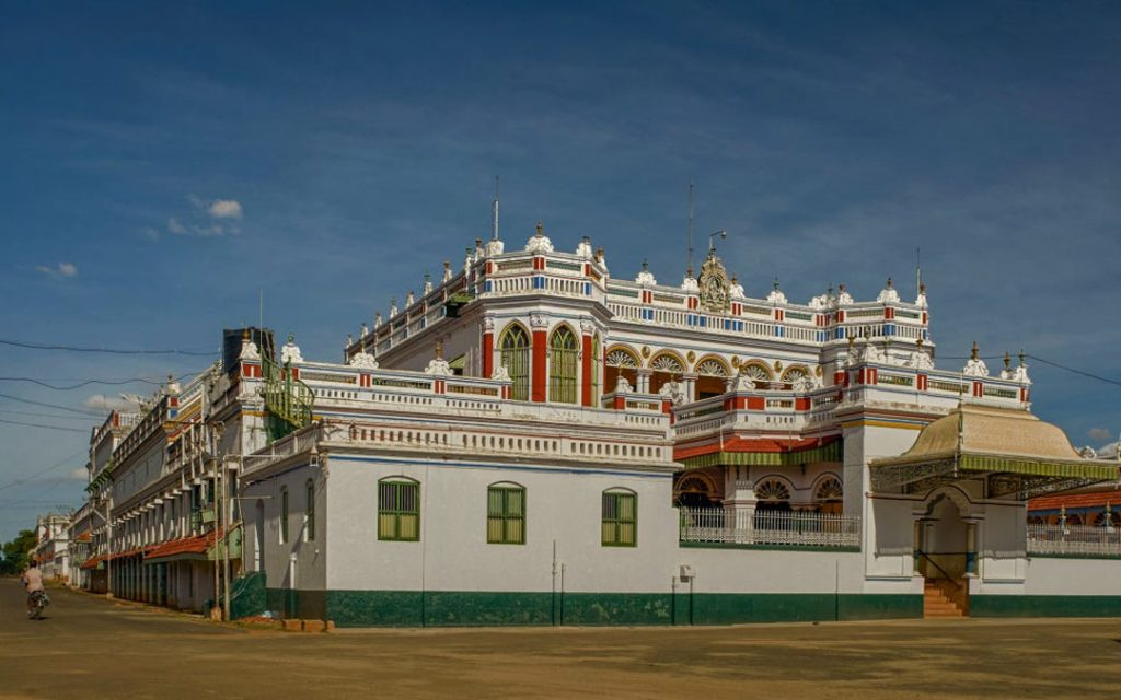 Kanadukathan Palace in Chettinad near Karaikudi