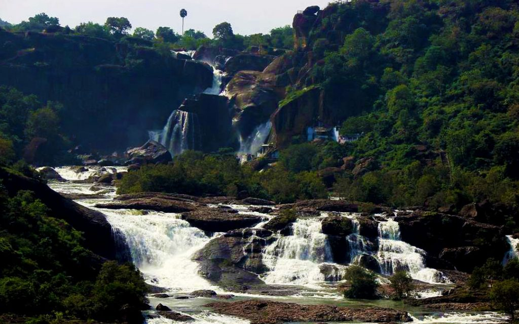 Agasthiyar waterfalls in Papanasam near Tirunelveli