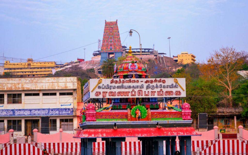A beautiful view of Thiruthani Murugan temple in Thiruvalluvar