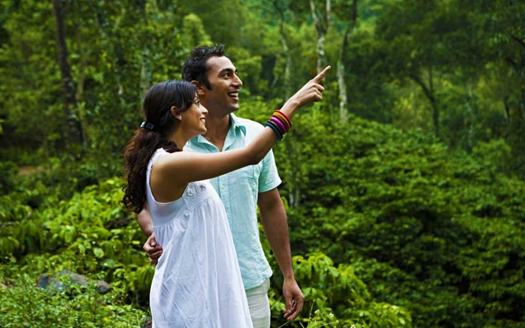 Newly married couple spending time in Yercaud